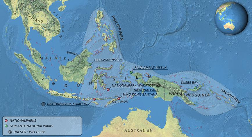 Korallendreieck Karte