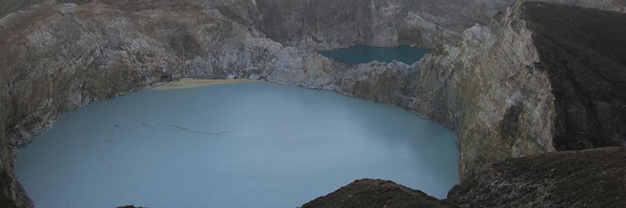 Kelimutu crater lakes on Flores, Komodo National Park