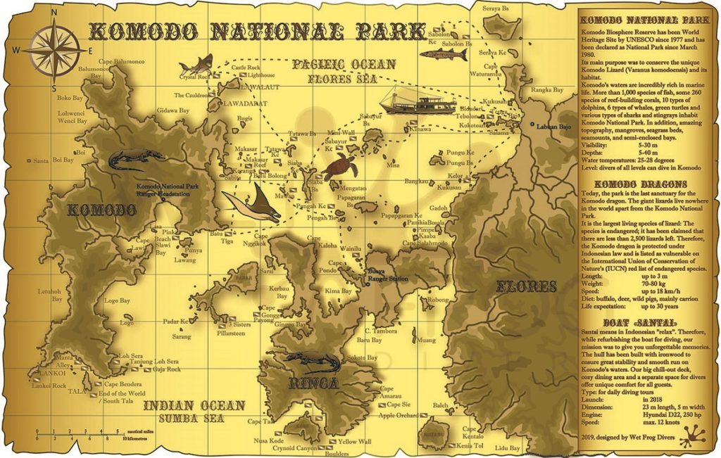 Map of Komodo National Park